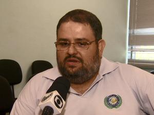 Diretor do Sindicato Servidores Municipais, Wady Abrão Neto (Foto: Rodrigo Sargaço/ EPTV)