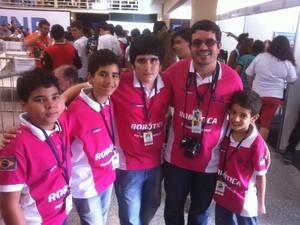 Alunos de Pernambuco participaram das competições (Foto: Orlando Duarte Neto/G1)