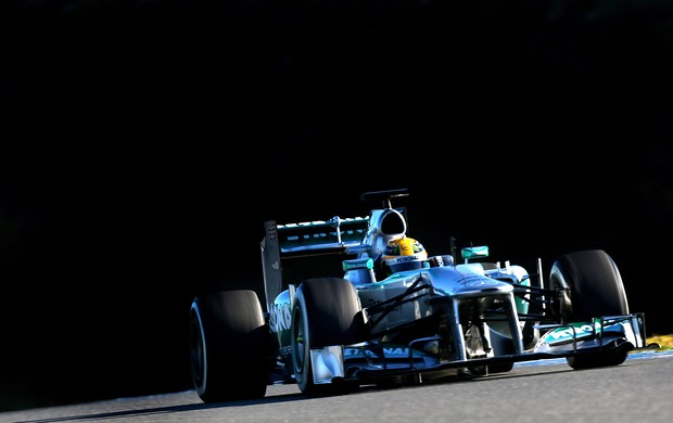 Lewis Hamilton Mercedes testes Jerez de la frontera (Foto: Agência Getty Images)