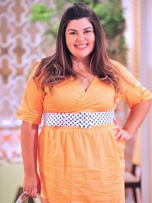A personagem de Fabiana ainda é virgem (Foto: Divulgação / TV Globo)