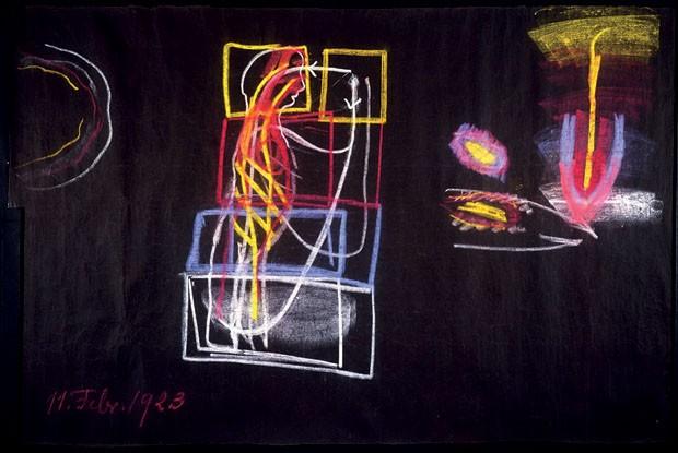 Diagramas com os quais o suíço Rudolf Steiner buscava descrever e entender o Universo (Foto: divulgação)