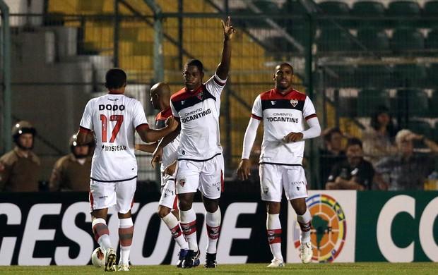 Gustavo gol Atlético-GO (Foto: Cristiano Andujar / Futura Press)