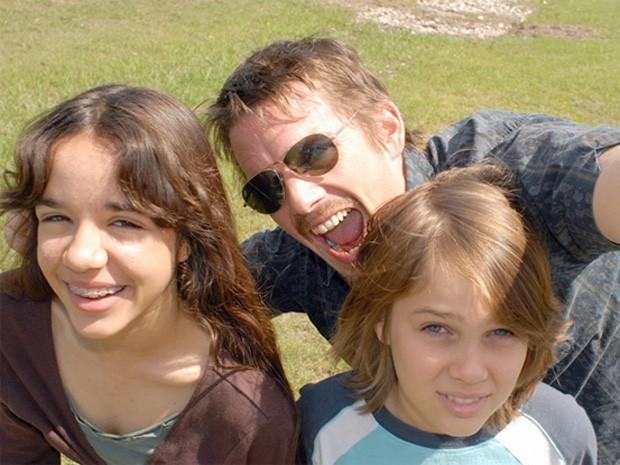 Lorelei Linklater, Ethan Hawke e Ellar Coltrane em 'Boyhood' (Foto: Divulgação)