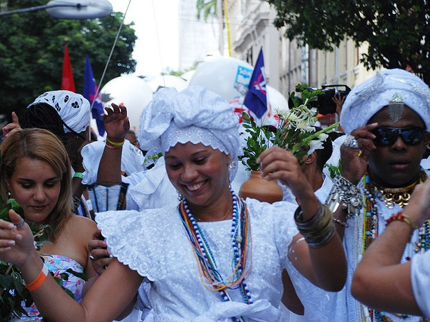 Lavagem do Bonfim (Foto: Ingrid Maria Machado/G1)