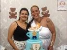 Rebeca Gusmão faz chá de bebê para o filho e se veste de deusa grega