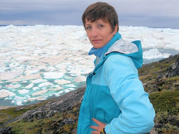 Sônia Bridi gravou programa na Groenlândia (Foto: Divulgação/ TV Globo)