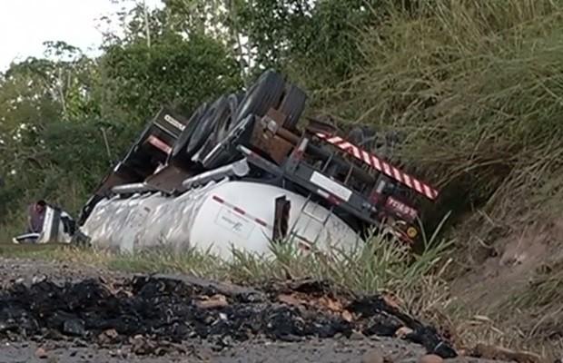 Nos últimos dois meses foram três acidentes graves (Foto: Reprodução/TV Anhanguera)