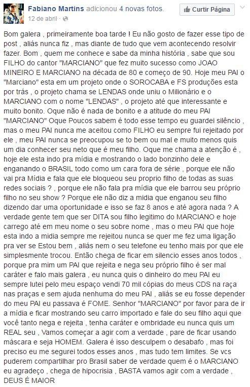 Fabiano Martins (Foto: Reprodução / Facebook)