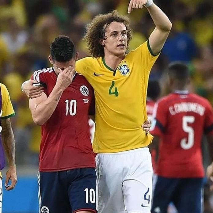 David Luiz foi um dos jogadores que mais ganhou seguidores durante o mundial (foto: Reprodução/Instagram)
