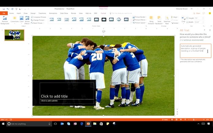 Aplicativos Word e PowerPoint serão capazes de criar legendas para imagens de forma automática (Foto: Divulgação/Microsoft)