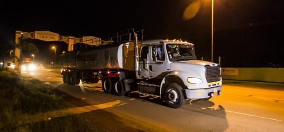 Carretas começaram a chegar nesta segunda-feira (7) (Foto: Arison Jardim/Secom)