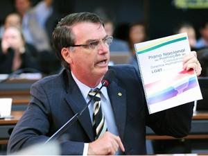 O deputado federal Jair Bolsonaro (PP-RJ), durante audiência sobre 'cura gay' (Foto: Alexandra Martins/Agência Câmara)