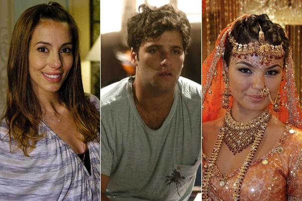 Duda (Tânia Khallil), Tarso (Bruno Gagliasso) e Camila (Ísis Valverde), personagens marcantes da novela de 2009 (Foto: CEDOC Globo)