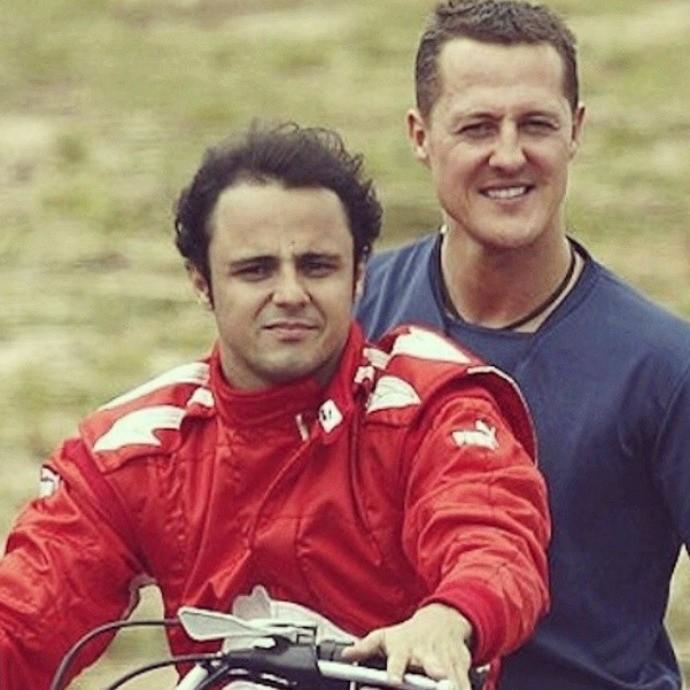 'Aguente firme, irmão', pede Felipe Massa ao amigo Michael Schumacher (Foto: Acervo Pessoal)