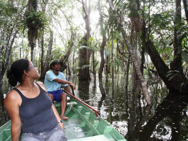 O Lago Verde, também é conhecido como 'Floresta Encantada', é uma ótima opção de passeio em Alter do Chão. (Foto: Tamara Saré/ Agência Pará)