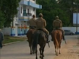 Policiamento será reforçado por 15 dias, em Navegantes (Foto: Reprodução RBS TV)