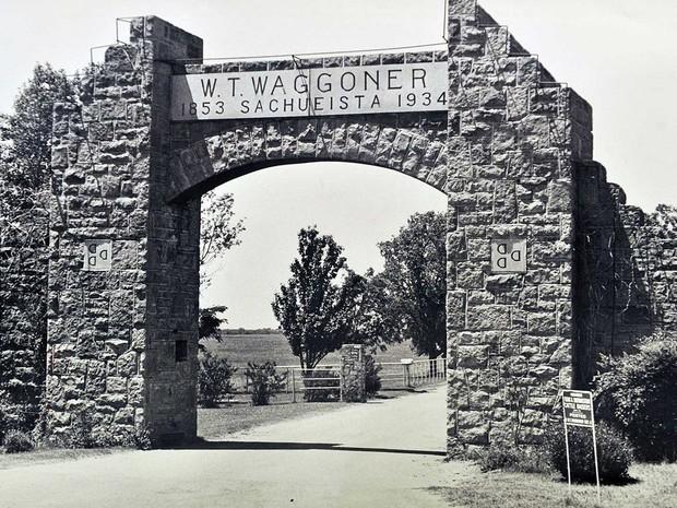 Rancho Waggoner, em imagem feita em 1989 (Foto: Torin Halsey / Times Record News / via AP Photo)