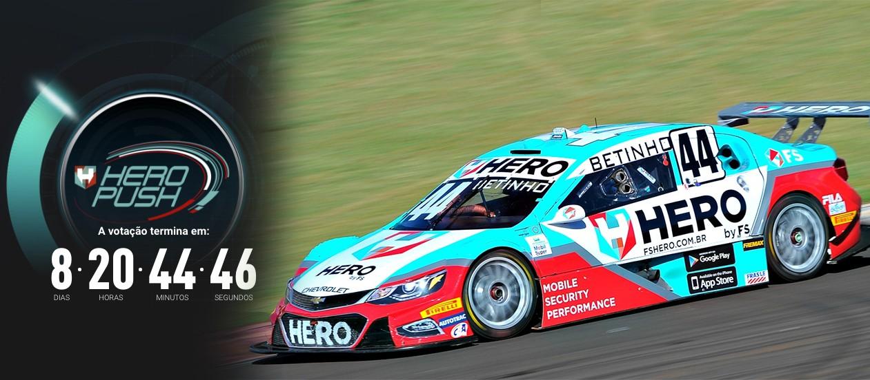 O Stock Car do piloto Betinho #44 da Hero (Foto: Montagem/Vicar)
