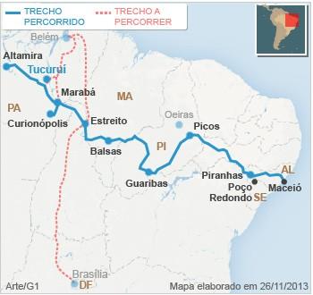 Mapa Bye Bye Bye Brasil: Tucuruí (PA)