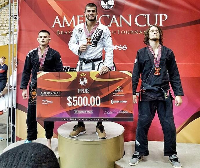 Gabriel Marangoni é campeão da American Cup (Foto: Divulgação)