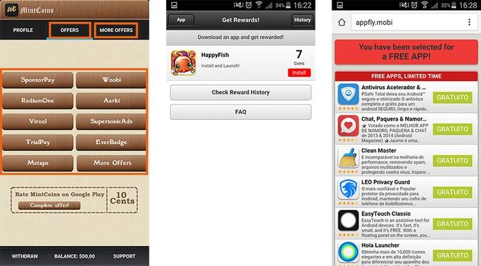 Escolha uma das funções para ganhar dinheiro com o app (Foto: Reprodução/Barbara Mannara)