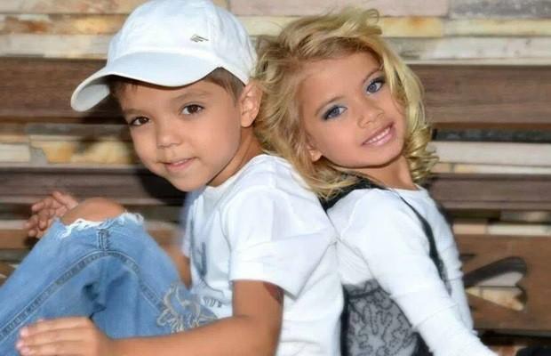 Márcio Júnior e Amanda: irmãos gêmeos com gostos completamente opostos (Foto: Arquivo pessoal)