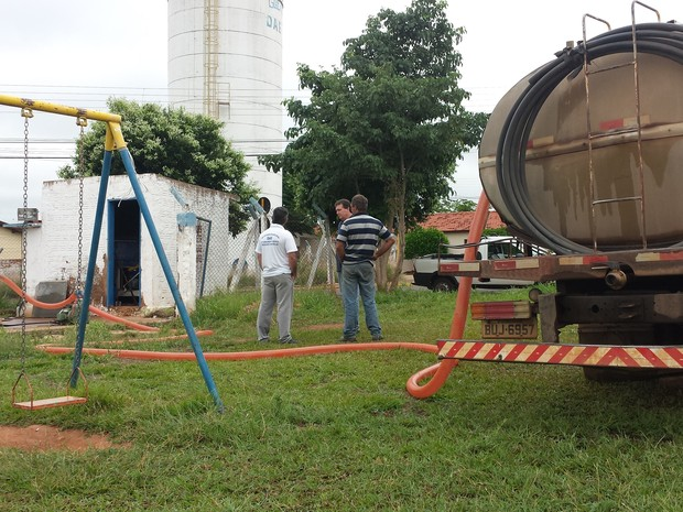 Reservatório foi abastecido para garantir água aos moradores de Presidente Venceslau (Foto: Divulgação/Prefeitura)