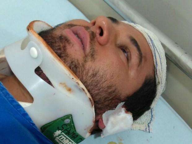 Johny Silva lembra dos momentos de pânico até a chegada do resgate após o acidente com o ônibus em Campo Mourão  (Foto: Arquivo Pessoal)