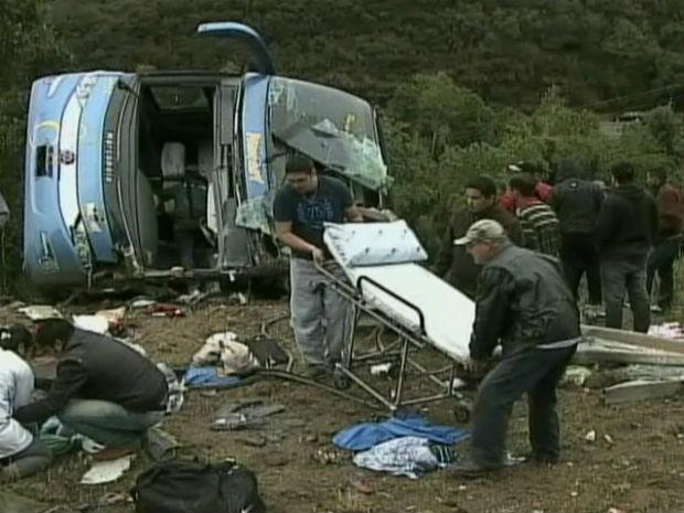 Acidente foi na região central do Paraná, na PR-090 (Foto: Reprodução/ RPC TV)