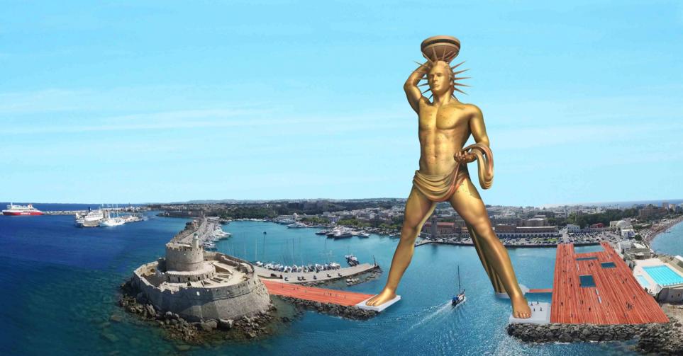 Novo Colosso de Rodes quer ser o marco megalomaníaco da Grécia pós-crise