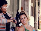 Veja os bastidores do Paparazzo de Bianca Salgueiro, dançarina do 'Esquenta!'