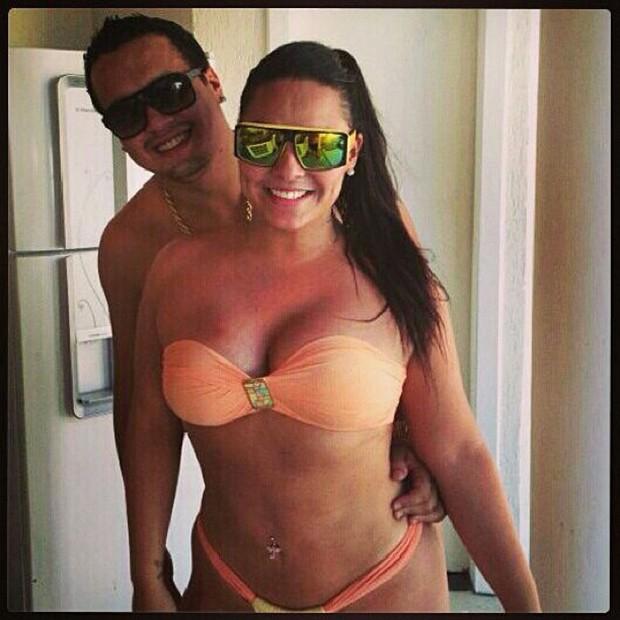 Mulher Melancia posta foto com o namorado (Foto: Instagram / Reprodução)