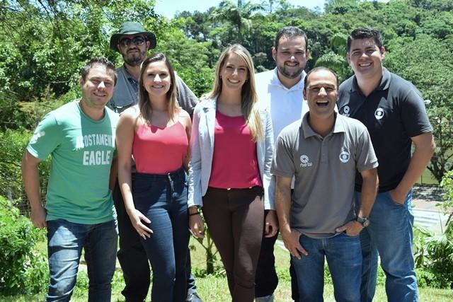Charles Machado, Douglas Rodrigo, Émilin Souza, Alessandra Flores, Felipe Correa, Heverton Ferri e André Buzzi participiram da produção. (Foto: RBS TV/Divulgação)