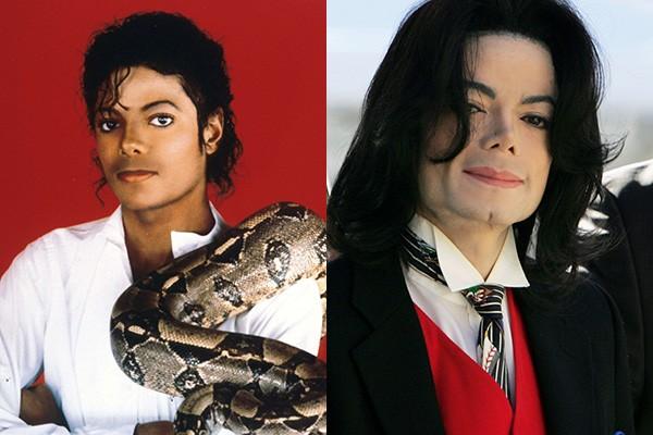 Michael Jackson talvez seja o caso mais famoso de reinvenção no mundo do entretenimento. Ele fez fama mundial com hits como 'Billie Jean' e 'Thriller', mas mudou drasticamente seus traços - e até a cor de sua pele - através de várias cirurgias. (Foto: Getty Images)