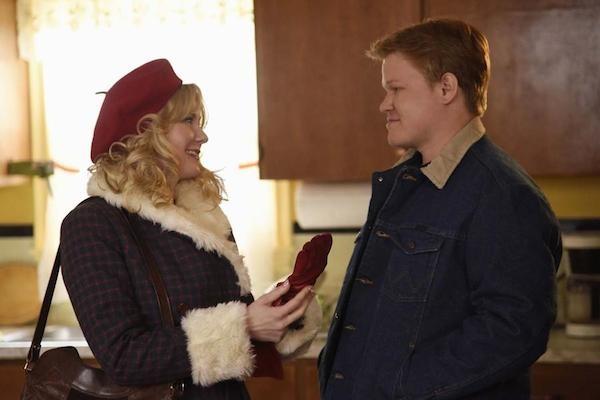 A atriz Kirsten Dunst com Jesse Plemons em 'Fargo' (Foto: Reprodução)