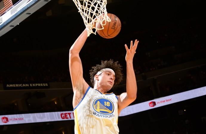 Anderson Varejão Warriors x Jazz NBA (Foto: Getty)