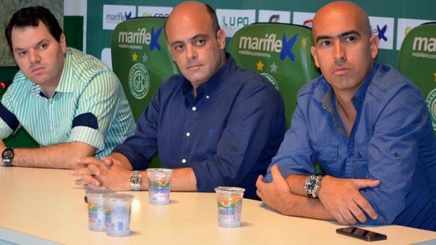 Tarcísio Pugliese Álvaro Negrão Rogério Giardini Guarani (Foto: Guto Marchiori)