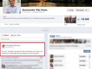 Tião Viana  (Foto: Reprodução/Facebook)