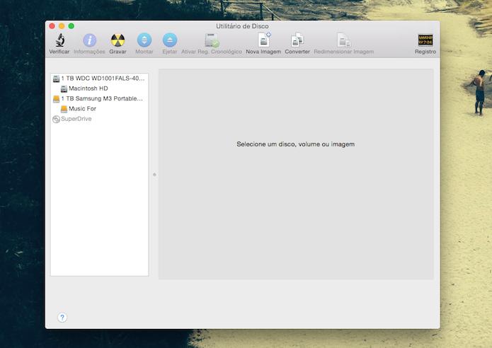 Utilitário de Disco do Mac OS X (Foto: Reprodução/Marvin Costa)