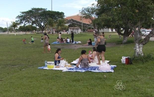 As tardes no parque já viraram rotina para quem quer descansar e aproveitar melhor o final de semana (Foto: Roraima TV)