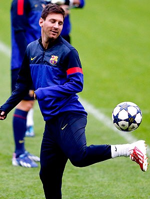 Messi treino Barcelona (Foto: Reuters)
