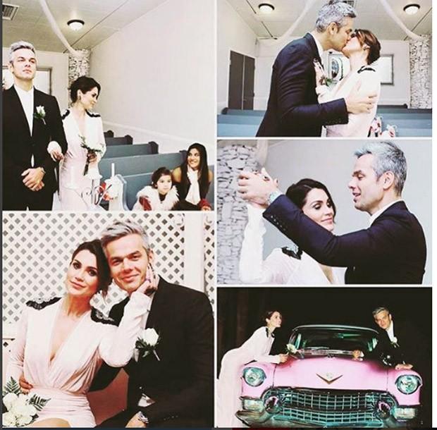 Otaviano Costa e Flávia Alessandra se casam (Foto: Reprodução/Instagram)