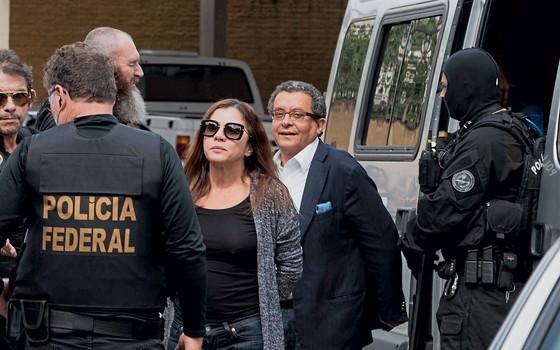 João Santana e a mulher Mônica Moura (Foto:  Cassiano Rosário/Futura Press)
