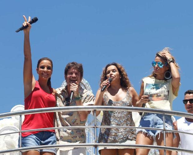 Ivete Sangalo com Alinne Rosa, Saulo Fernandes e Daniela Mercury (Foto: Ricardo Cardoso/Revista QUEM)