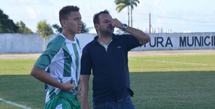 Gérson Júnior, técnico do Miramar (Foto: Edgley Lemos / GloboEsporte.com/pb)