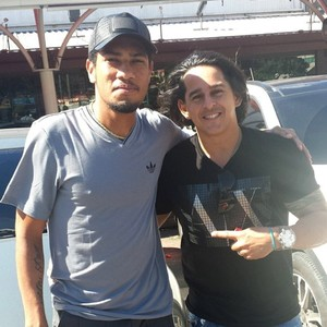 empresário Cesar com Hernane (Foto: Instagram)