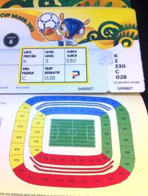 Ingresso para Arena Pernambuco sem setor no estádio (Foto: Reprodução)