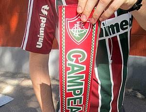 faixa de campeão carioca do Fluminense nas Laranjeiras (Foto: Rafael Cavalieri / Globoesporte.com)