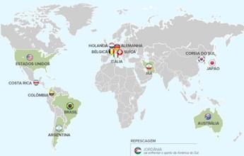 Bélgica é cabeça de chave; América do Sul pode ter 'jogo de compadres'