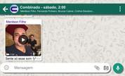 Trio Combinado conversa em app de mensagens